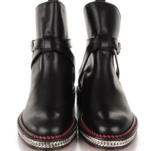 Christian louboutin Chelsea chain ankle boot